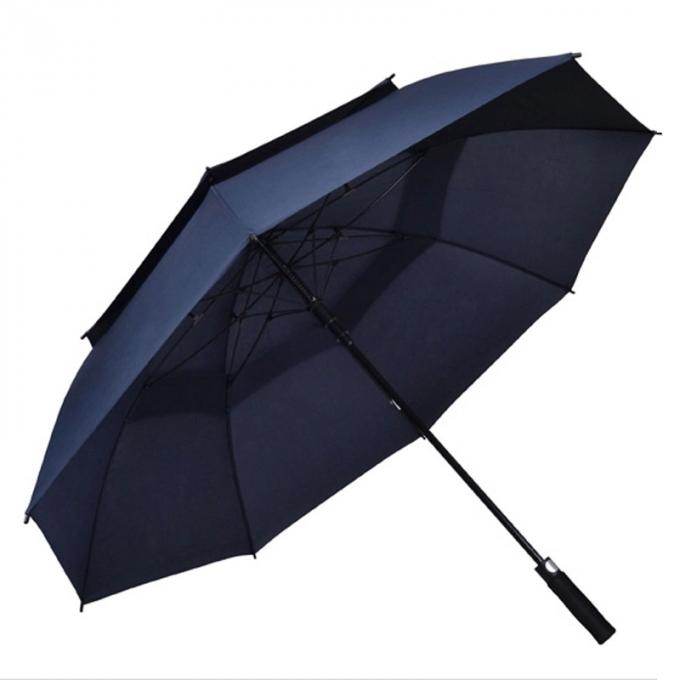 62 Inch 68 Extra Large Oversize Double Vented Umbrella , Windproof Golf Umbrellas