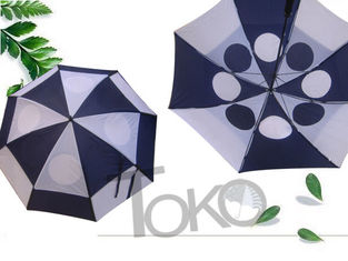 China Manual Open Ladies Vented Golf Umbrella Windproof Canopy Nylon 190T Fabric supplier