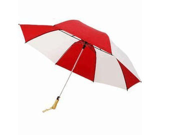 China Womens Wind Resistant Golf Umbrella Auto Open Red And White Alternative Colors supplier