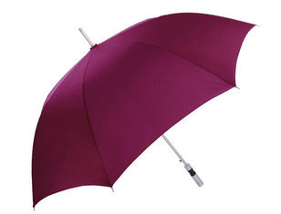 China Aluminum Red Collapsible Golf Umbrella , Strong Windproof Folding Umbrella 2cm Strap supplier