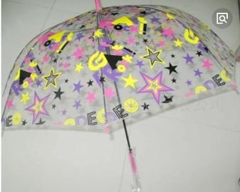 China Colorful Clear Canopy Bubble Dome Umbrella Plastic Hook Handle Stick Metal Frame supplier