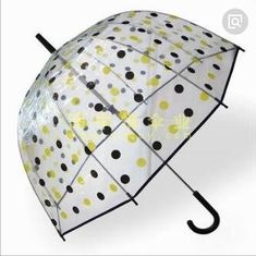 China Transparent See Through Umbrella , Windproof Clear Plastic Dome Umbrella Printed supplier