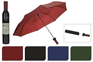 China 8 Windproof Ribs Bottle Shaped Umbrella Manual Open 105cm Dia Protect Rain / Sun supplier