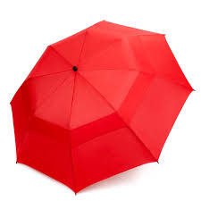 China Red Extra Large Collapsible Golf Umbrella 190T Pongee Fabirc 12mm Shaft Easy Open factory