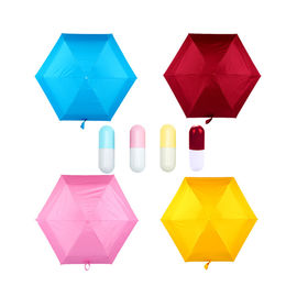Five Folding Sun / Rain Mini Pocket Umbrella , Mini Capsule Umbrella For Women