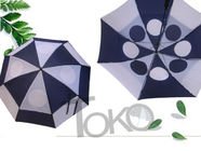 Manual Open Ladies Vented Golf Umbrella Windproof Canopy Nylon 190T Fabric